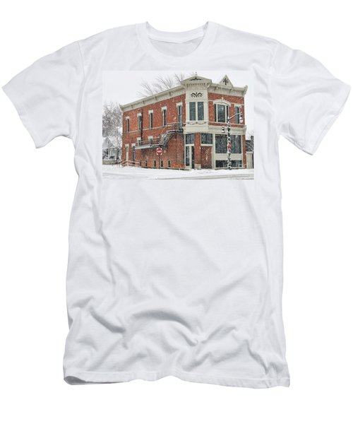 Downtown Whitehouse  7031 Men's T-Shirt (Slim Fit) by Jack Schultz