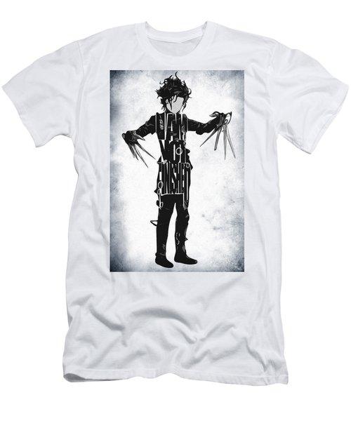Edward Scissorhands - Johnny Depp Men's T-Shirt (Slim Fit) by Ayse Deniz