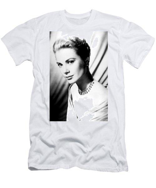 Grace Kelly Men's T-Shirt (Slim Fit) by Daniel Hagerman
