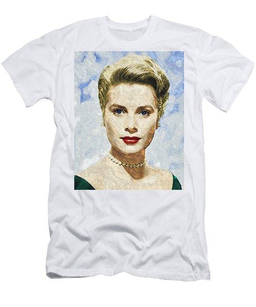 Grace Kelly Men's T-Shirt (Slim Fit) by Taylan Soyturk