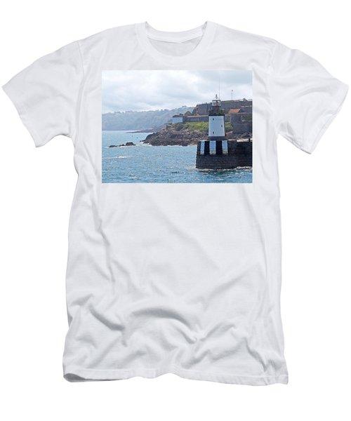 Guernsey Lighthouse Men's T-Shirt (Slim Fit) by Gill Billington