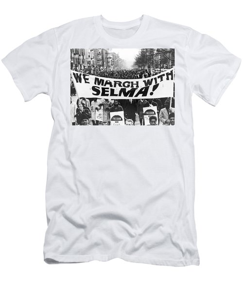 Harlem Supports Selma Men's T-Shirt (Slim Fit) by Stanley Wolfson
