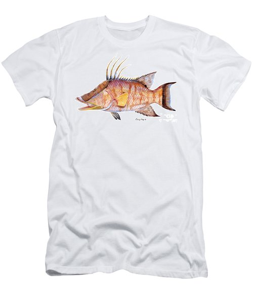 Hog Fish Men's T-Shirt (Slim Fit) by Carey Chen