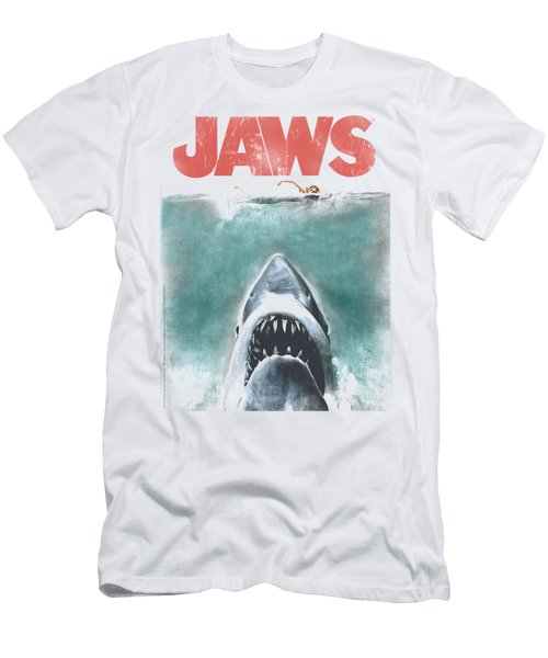 Jaws - Vintage Poster Men's T-Shirt (Slim Fit) by Brand A