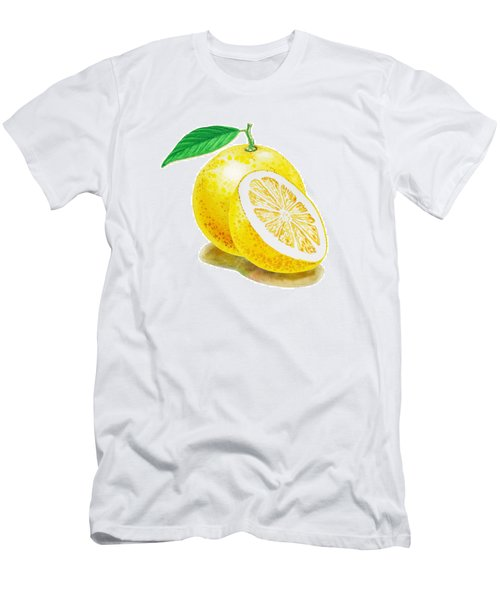 Juicy Grapefruit Men's T-Shirt (Slim Fit) by Irina Sztukowski
