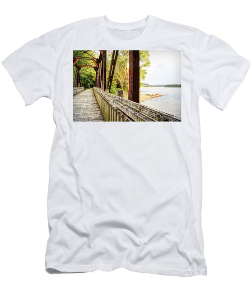 Katy Trail Near Coopers Landing Men's T-Shirt (Slim Fit) by Cricket Hackmann