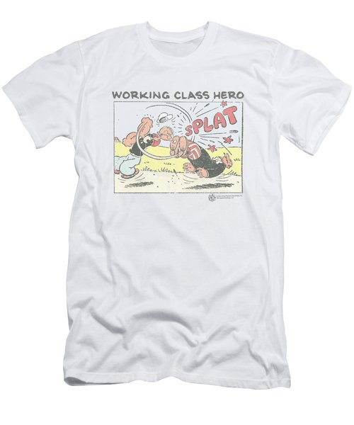 Popeye - Blue Bash Men's T-Shirt (Slim Fit) by Brand A
