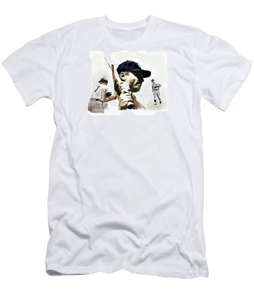 Quality Of Greatness Mickey Mantle Men's T-Shirt (Slim Fit) by Iconic Images Art Gallery David Pucciarelli