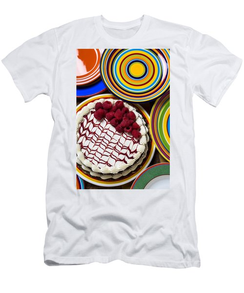 Raspberry Cake Men's T-Shirt (Slim Fit) by Garry Gay