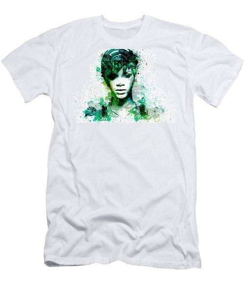 Rihanna 5 Men's T-Shirt (Slim Fit) by Bekim Art