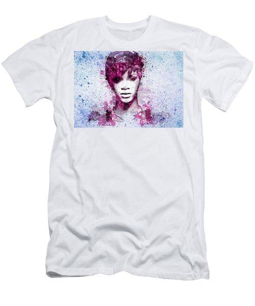 Rihanna 8 Men's T-Shirt (Slim Fit) by Bekim Art