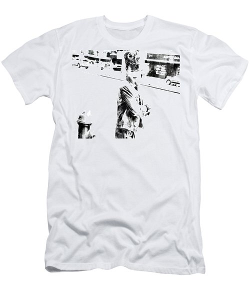 Rihanna Hanging Out Men's T-Shirt (Slim Fit) by Brian Reaves