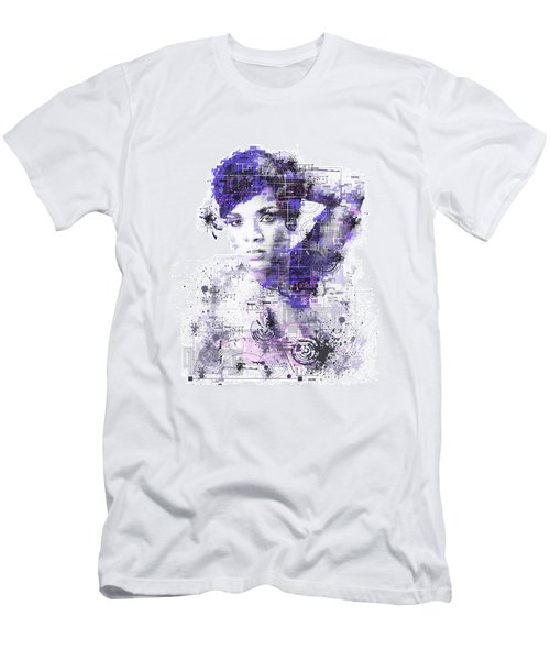 Rihanna Men's T-Shirt (Slim Fit) by Bekim Art