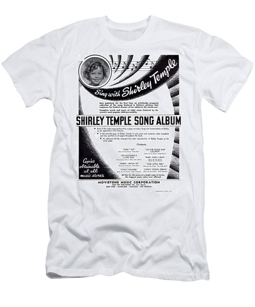 Shirley Temple Song Album Men's T-Shirt (Slim Fit) by Mel Thompson