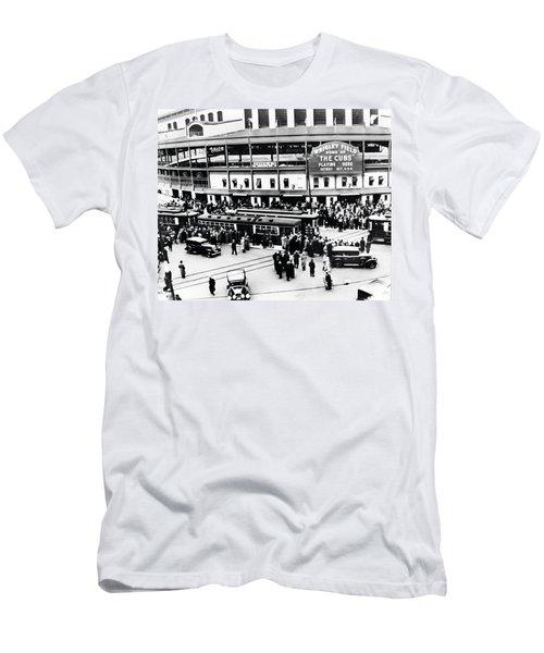 Vintage Wrigley Field Men's T-Shirt (Slim Fit) by Bill Cannon