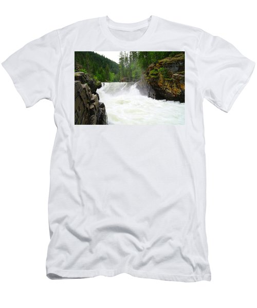 Yaak Falls Men's T-Shirt (Slim Fit) by Jeff Swan