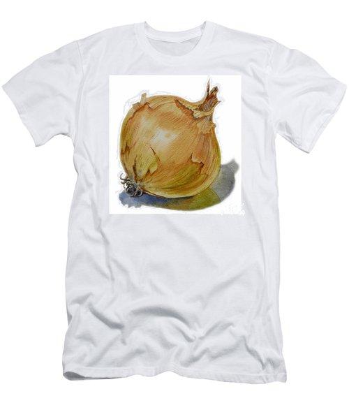 Yellow Onion Men's T-Shirt (Slim Fit) by Irina Sztukowski