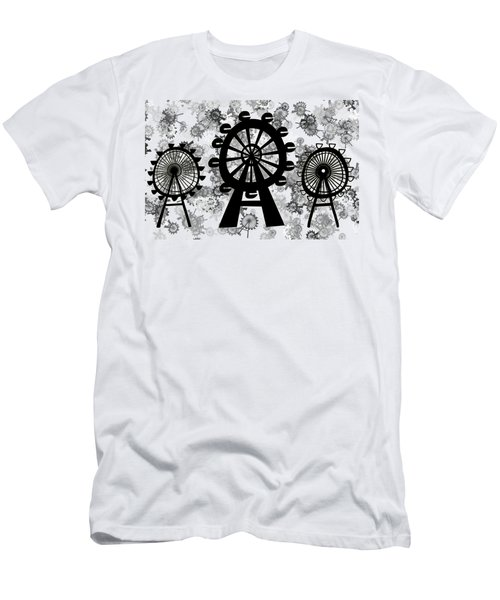 Ferris Wheel - London Eye Men's T-Shirt (Slim Fit) by Michal Boubin