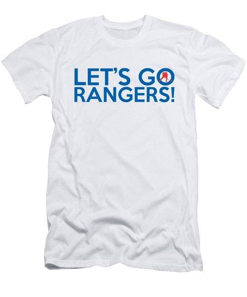 Let's Go Rangers Men's T-Shirt (Slim Fit) by Florian Rodarte