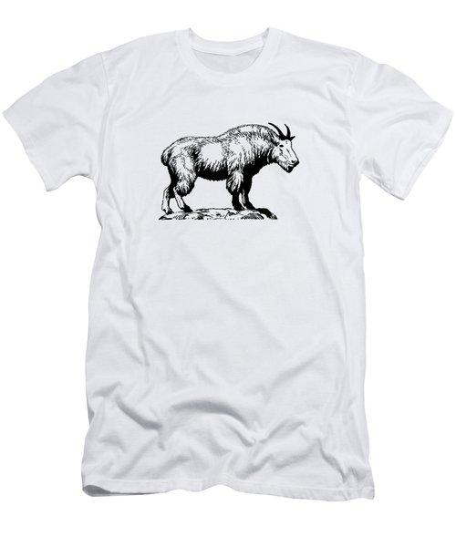 Mountain Goat Men's T-Shirt (Slim Fit) by Mordax Furittus