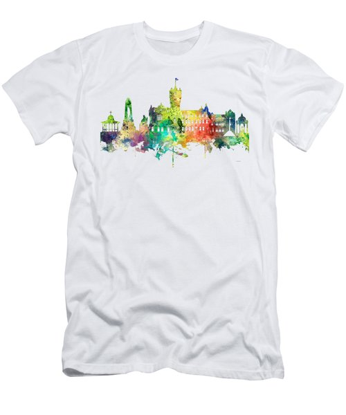 Rutherglen Scotland Skyline Men's T-Shirt (Slim Fit) by Marlene Watson