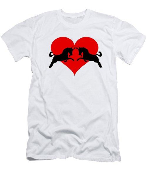Unicorns Men's T-Shirt (Slim Fit) by Mordax Furittus