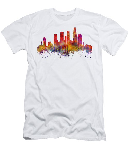 Los Angeles  Men's T-Shirt (Slim Fit) by JW Digital Art