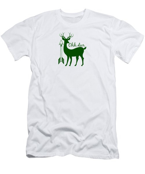 Ohh Deer Men's T-Shirt (Slim Fit) by Chastity Hoff