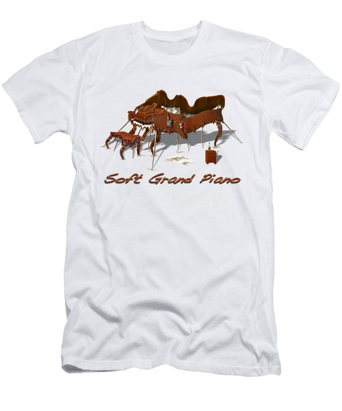 Soft Grand Piano  Men's T-Shirt (Slim Fit) by Mike McGlothlen
