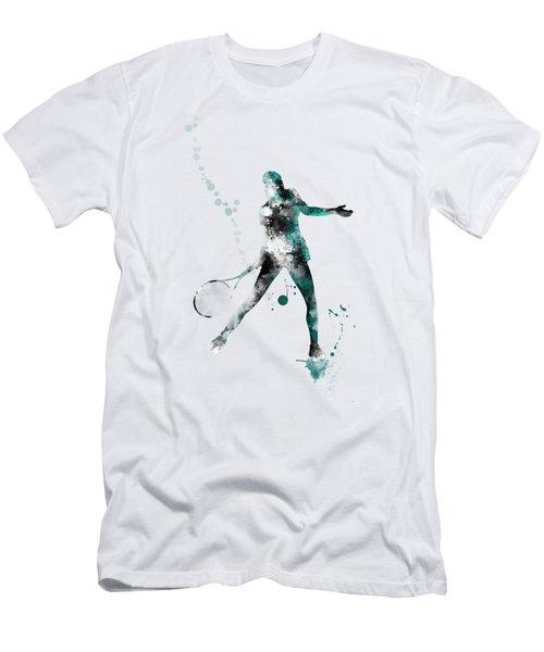 Tennis Player Men's T-Shirt (Slim Fit) by Marlene Watson