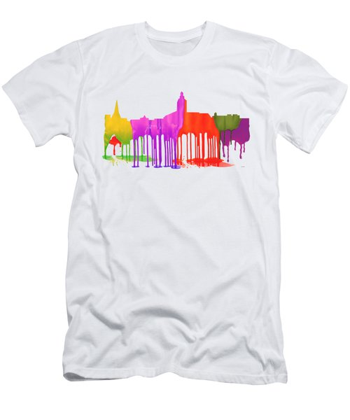Annapolis Maryland Skyline      Men's T-Shirt (Slim Fit) by Marlene Watson