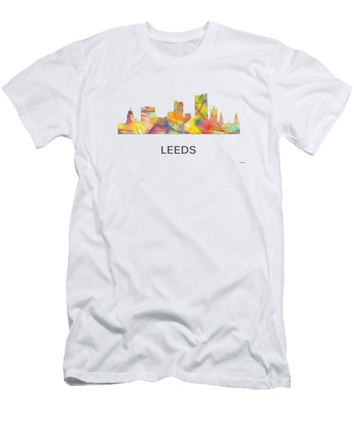 Leeds England Skyline Men's T-Shirt (Slim Fit) by Marlene Watson