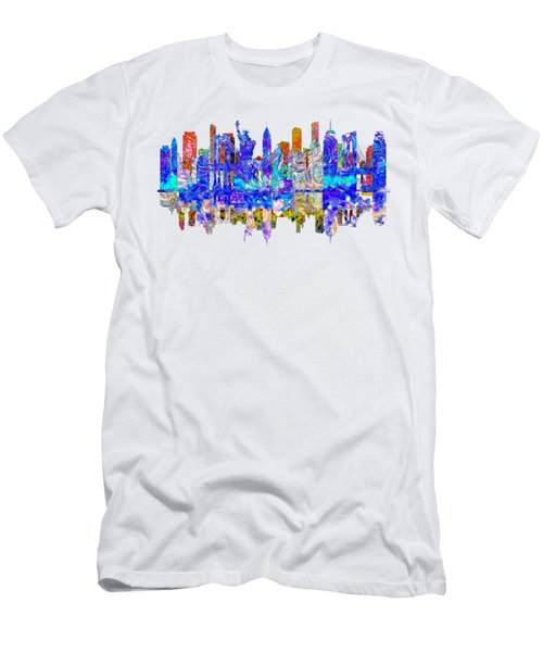 New York Men's T-Shirt (Slim Fit) by John Groves