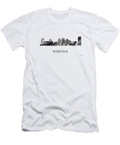 Norfolk Virginia Skyline Men's T-Shirt (Slim Fit) by Marlene Watson