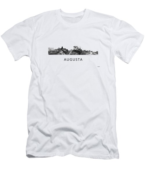 Augusta Maine Skyline Men's T-Shirt (Slim Fit) by Marlene Watson