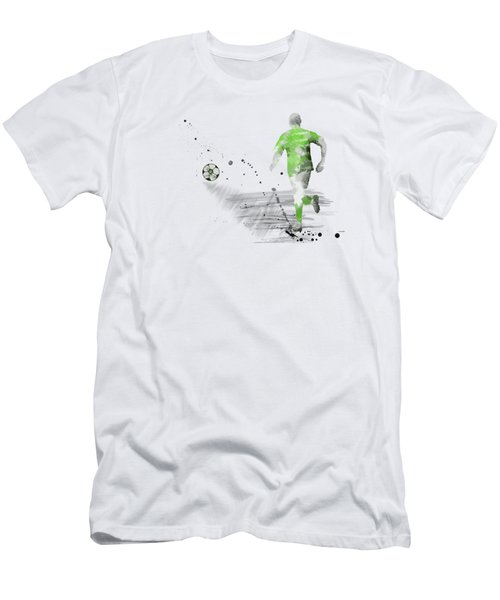 Football Player Men's T-Shirt (Slim Fit) by Marlene Watson