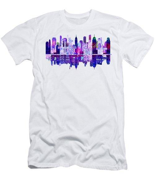New York Men's T-Shirt (Slim Fit) by John Groves