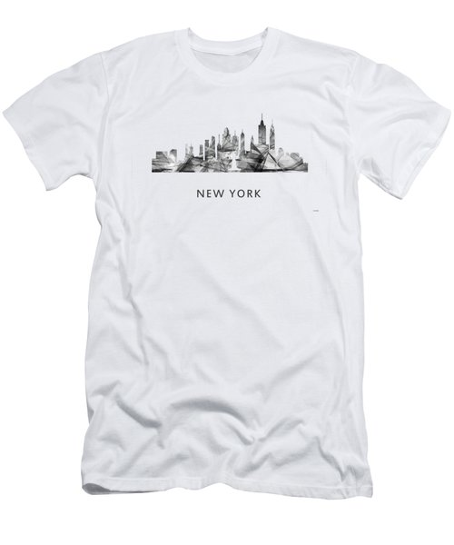 New York New York Skyline Men's T-Shirt (Slim Fit) by Marlene Watson