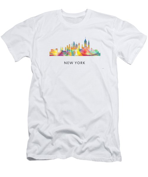 New York Skyline Men's T-Shirt (Slim Fit) by Marlene Watson