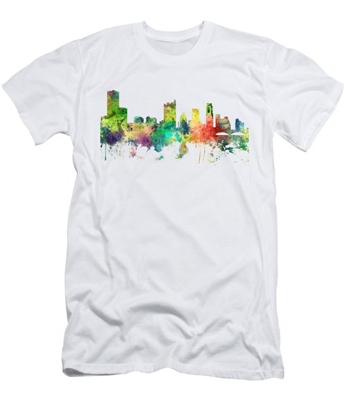 Austin Texas Skyline Men's T-Shirt (Slim Fit) by Marlene Watson