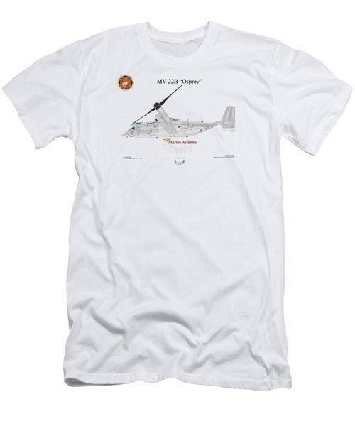 Bell Boeing Mv-22b Osprey Men's T-Shirt (Slim Fit) by Arthur Eggers