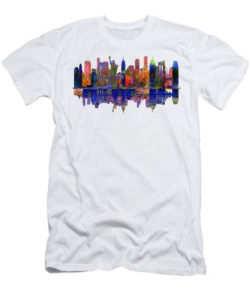 New York Skyline Men's T-Shirt (Slim Fit) by John Groves