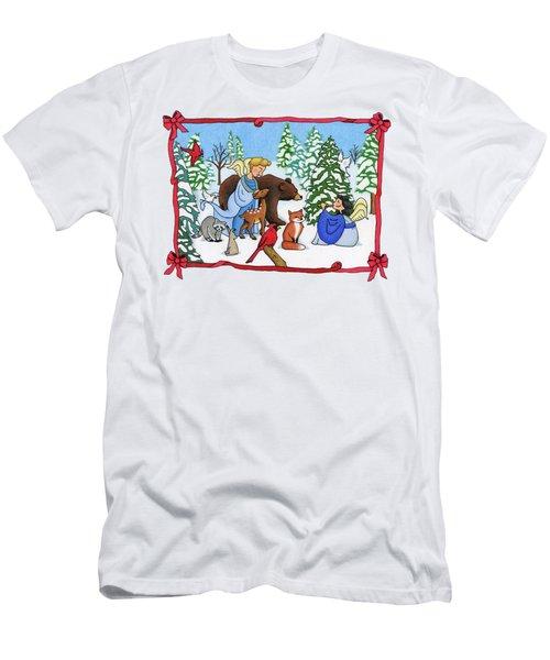 A Christmas Scene 2 Men's T-Shirt (Slim Fit) by Sarah Batalka