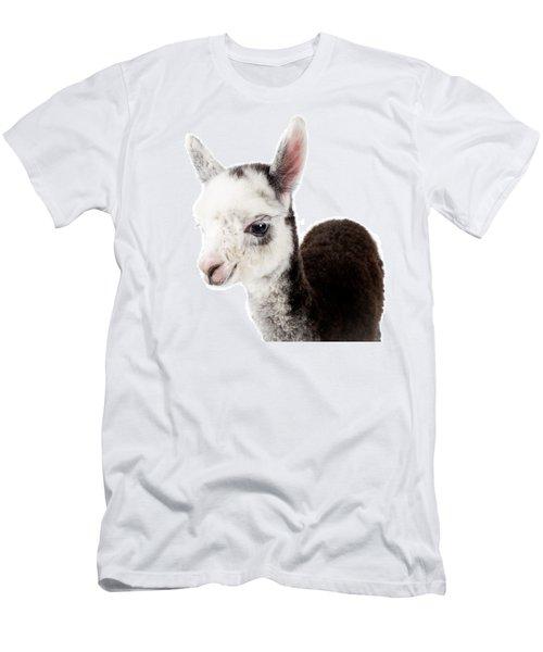 Adorable Baby Alpaca Cuteness Men's T-Shirt (Slim Fit) by TC Morgan