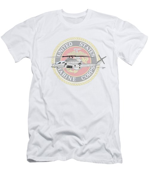 Ah-1z Viper Usmc Men's T-Shirt (Slim Fit) by Arthur Eggers