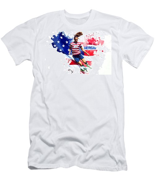 Alex Morgan Men's T-Shirt (Slim Fit) by Semih Yurdabak