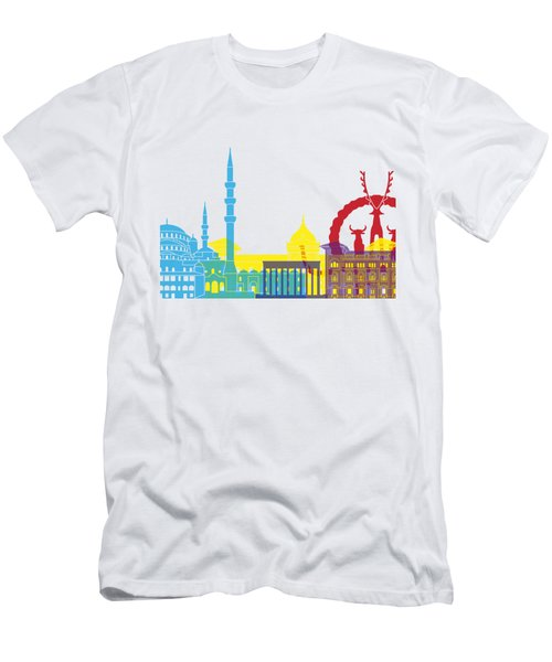 Ankara Skyline Pop Men's T-Shirt (Slim Fit) by Pablo Romero