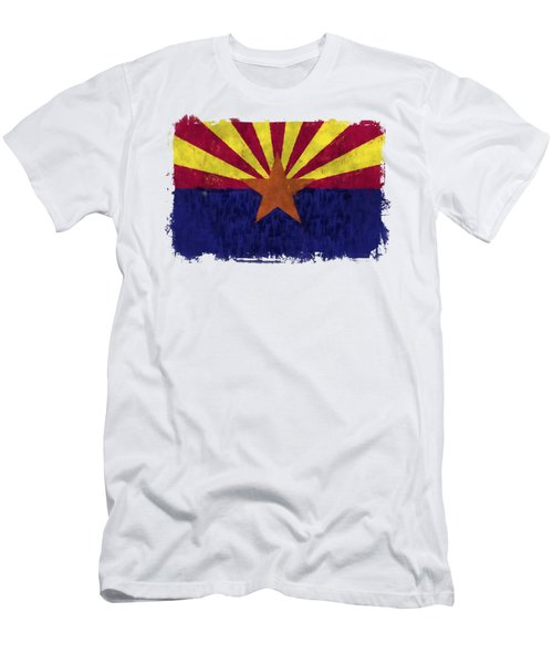Arizona Flag Men's T-Shirt (Slim Fit) by World Art Prints And Designs