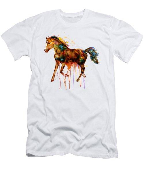 Watercolor Horse Men's T-Shirt (Slim Fit) by Marian Voicu