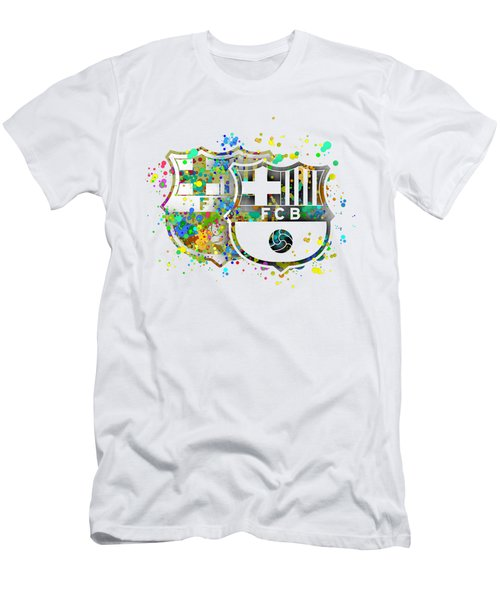 Tribute To F C Barcelona 7 Men's T-Shirt (Slim Fit) by Alberto RuiZ